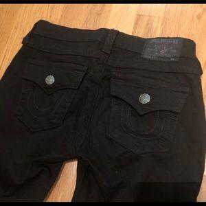 True Religion Black Full Length Jeans